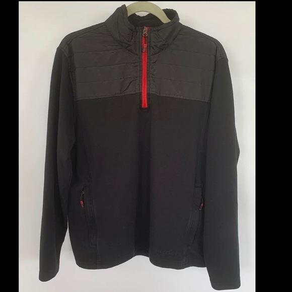 Eddie Bauer black half zip pullover. Size medium